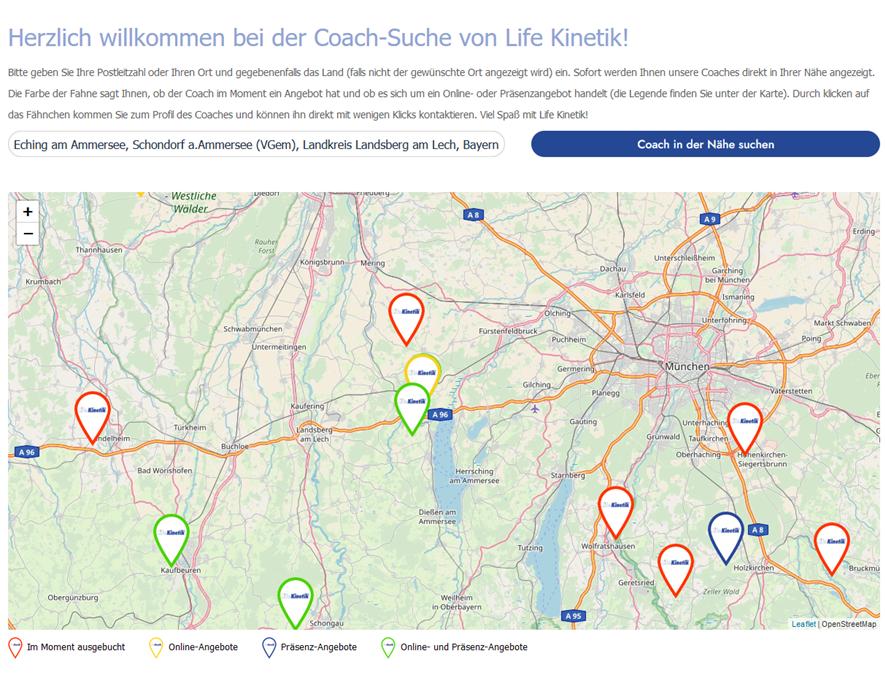 Coach-Suche